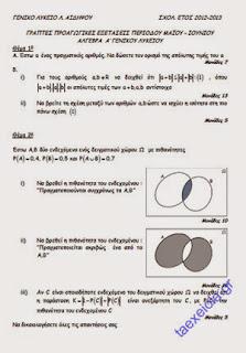 Θέματα με Λύσεις Άλγεβρας Α' Λυκείου