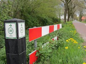 Fietsknooppunten netwerk Groningen.