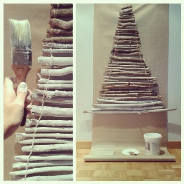 Rboles de navidad de listones y ramas salvaged wood - Arbol de navidad hecho en casa ...