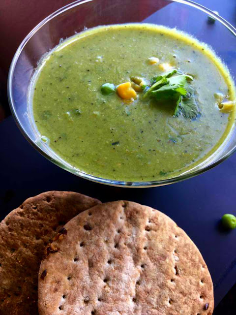 Green Peas and Sweet Corn SoupSoups & Lentils