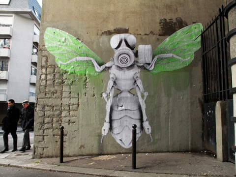 Insects street Art , Paris based Ludo