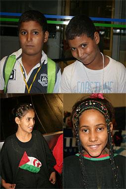 Llegada niñ@s saharauis 2012