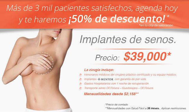 Paquete de implantes de senos con vuelo incluido ciudad de mexico guadalajara