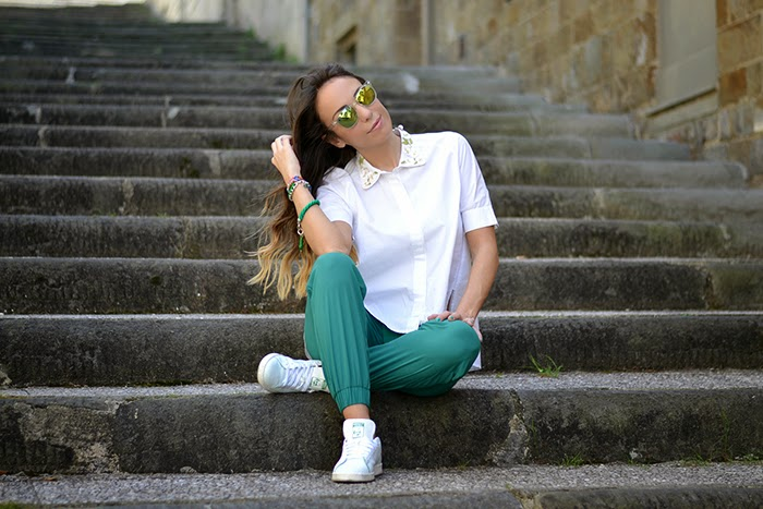 green white outfit