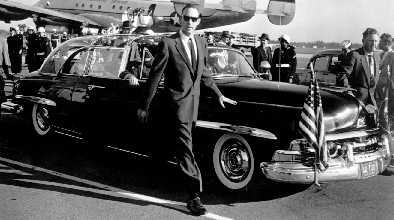 Secret Service agents protecting President Eisenhower