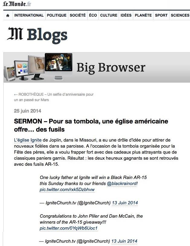 http://bigbrowser.blog.lemonde.fr/2014/06/25/sermon-pour-sa-tombola-une-eglise-americaine-offre-des-fusils/#xtor=RSS-32280322
