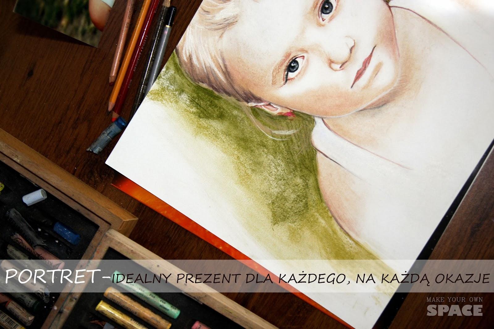 pastele, portret, portret dziecka, prezent, okazja