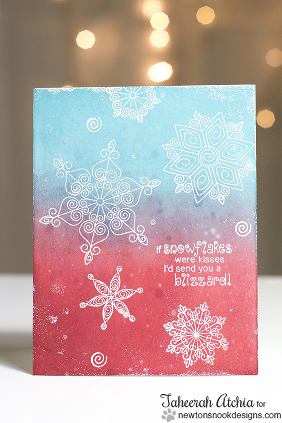 Snowflake Card by Taheerah Atchia for Newton's Nook Designs | Beautiful Blizzard Stamp Set