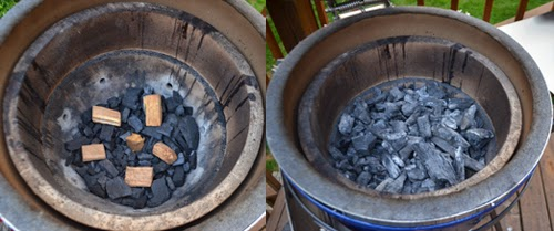 coal, wood chunks for smoke