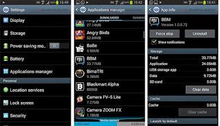 Cara Mudah LogOut BBM Android Smartphone