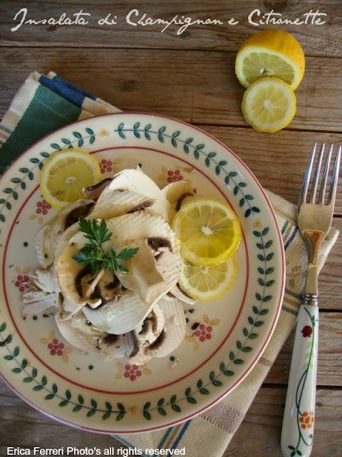 Funghi champignon cotti con il limone