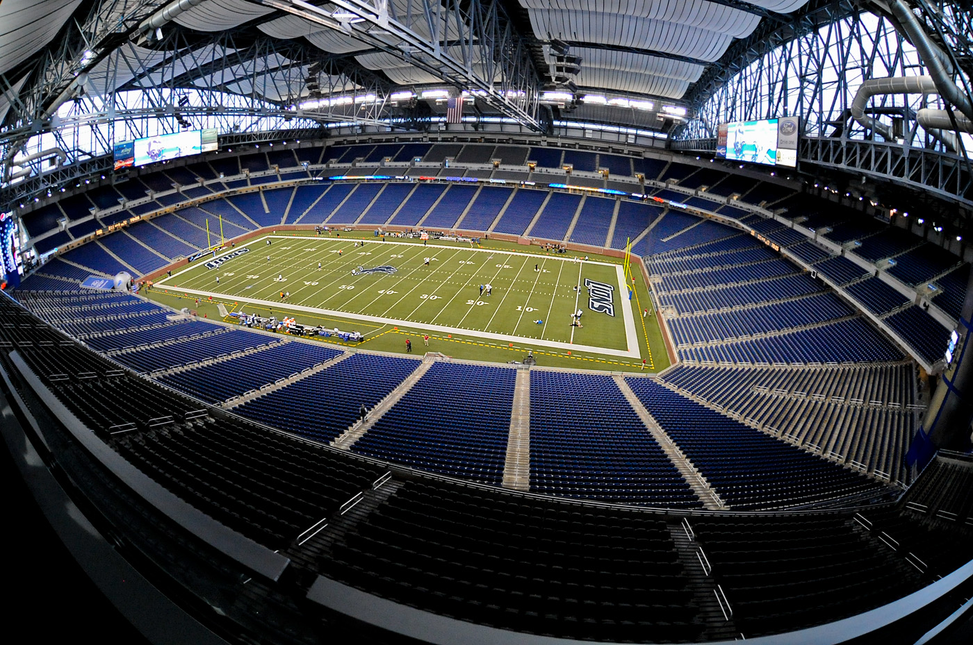 Unlike most football stadiums ford field is laid out end zone to end zone from east to west instead of from north to south the nfl has a rule against