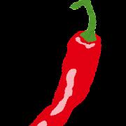 唐辛子のイラスト(野菜)