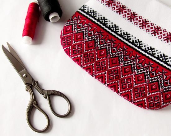 кошелек на фермуаре, Ethnic frame purse