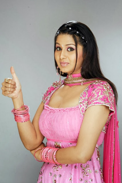 Sangeetha In Pink Dress