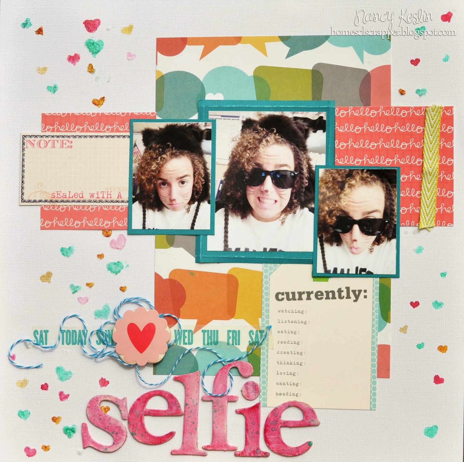 selfie, multi photo, luminarte, 12x12, scrapbook, sampler, kit club