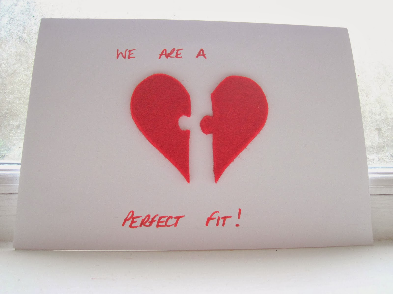 Graces favours craft adventures how to valentines day felt if you dont want to use a card like the one above with two doors you can use a standard folded piece of card and either stick the heart pieces together solutioingenieria Images