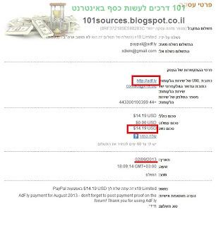 כסף מקיצור כתובות באינטרנט