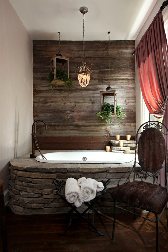 Amazing raw stone bathroom design ideas home interior for Amazing bathrooms