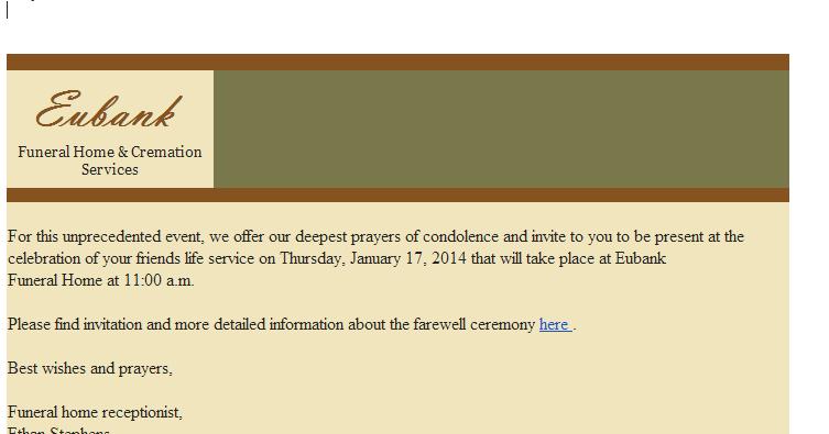 PhishingPier Asprox Malware Funeral invitation
