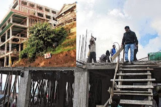 Darjeeling municipality dismantling higher illegal buildings