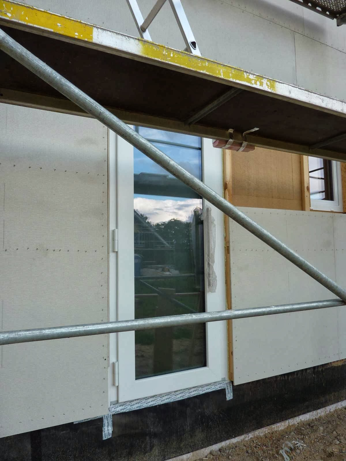Türeneinbau  Haus Am Park: Bautagebuch: Fenster- und Türeneinbau