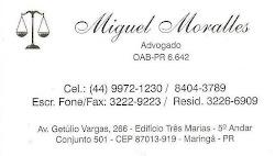 ADVOGADO - DR. MIGUEL MORALLES - 9972-1230