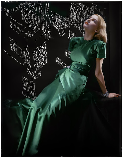 Erwin Blumenfeld untitled (Green dress), 1946