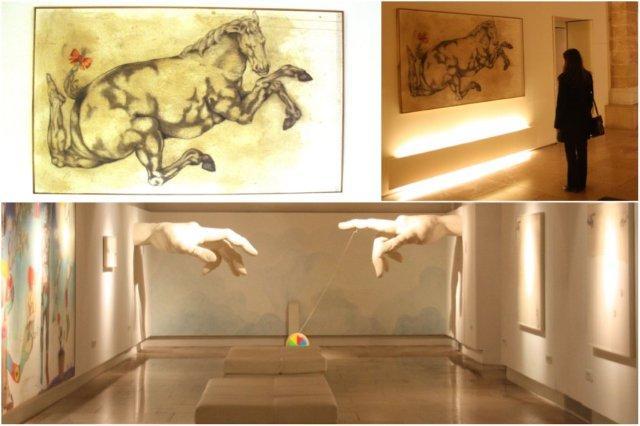 Galeria de arte en el restaurante Simply Fosh en Palma de Mallorca