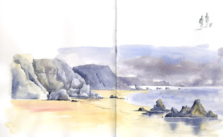 Sketch Marloes Beach