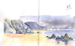 Sketch Marloes Beach