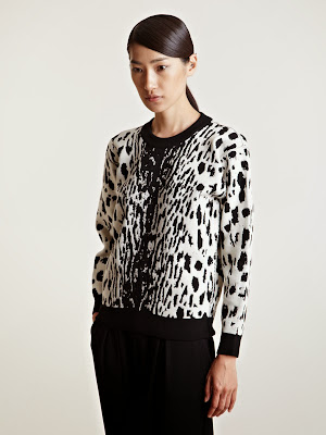 Lanvin FW13 Black and white animal print