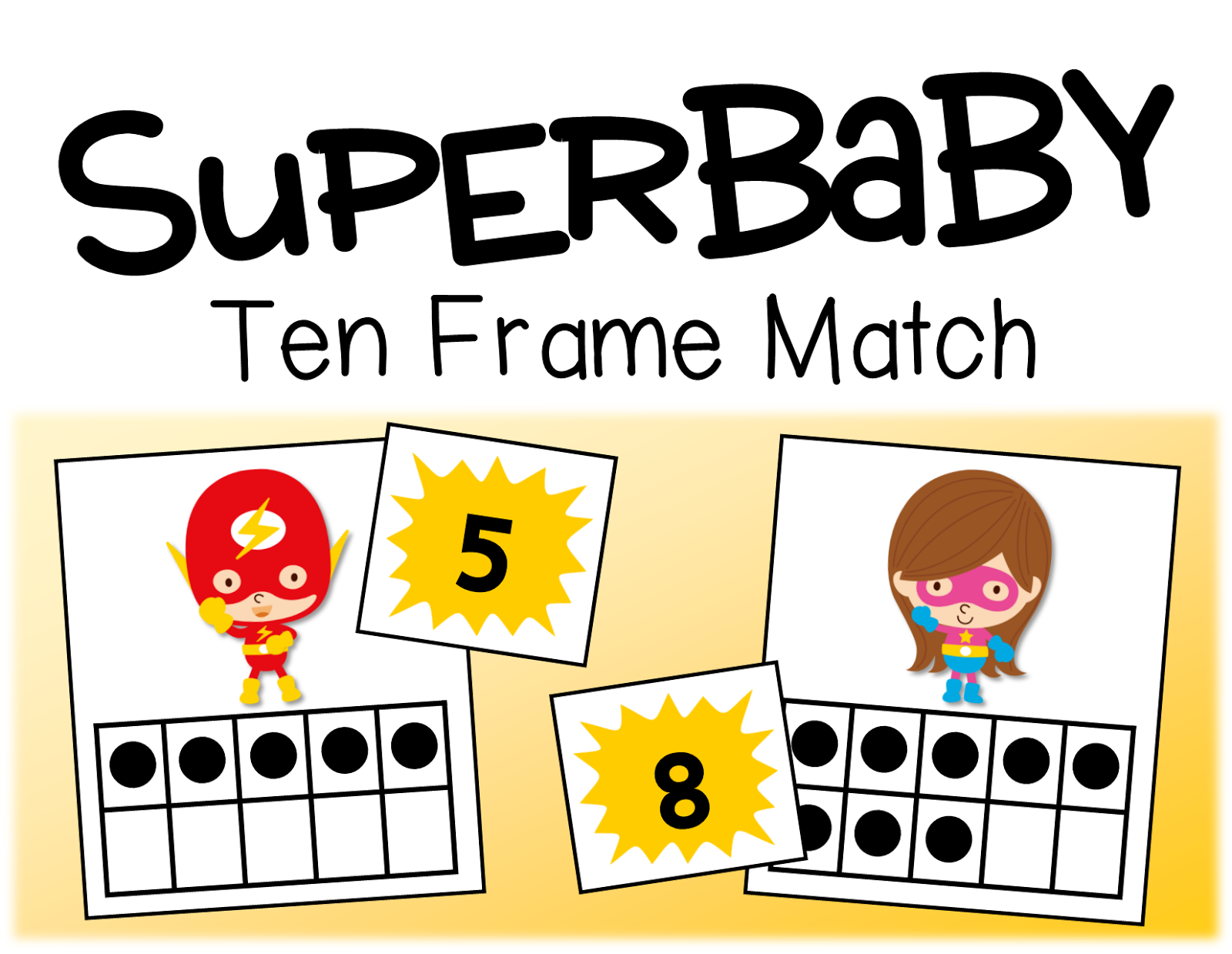 just cut out the ten frame cards and number cards for students to match numbers 0 10 are included with a blank card for both too in case something