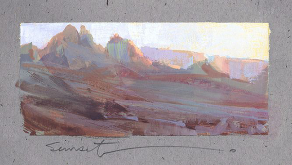 Painting by Nathan Fowkes on his Land Sketch Blog