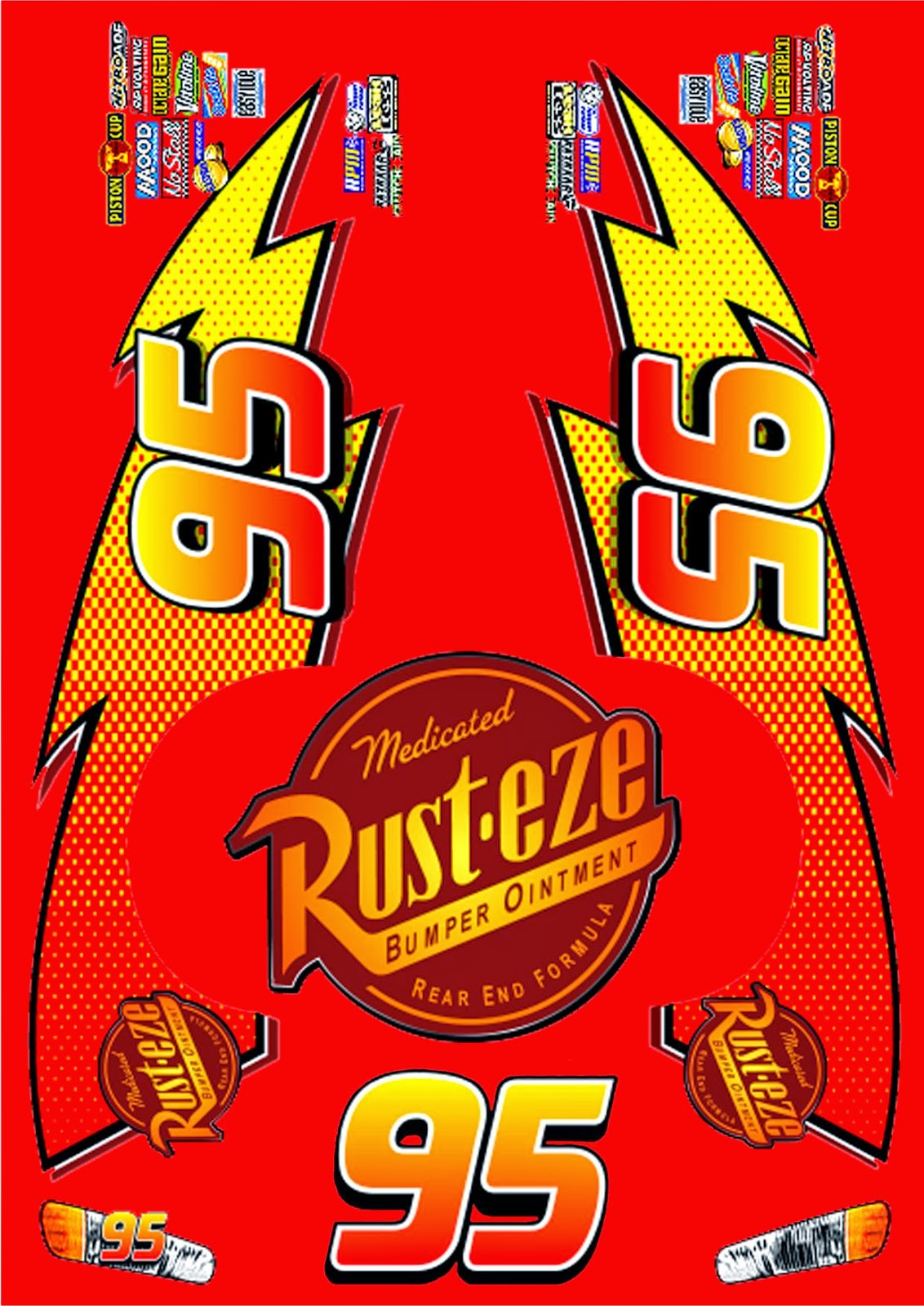 Lightning Mcqueen 95 Logo Related Keywords amp Suggestions