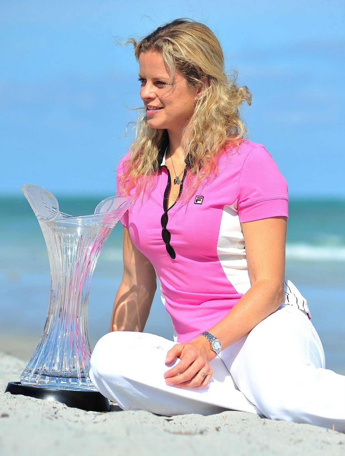 Sports Stars Celebrity Kim Clijsters Female Tennis Celebrity