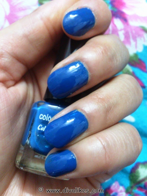 Coloressence Nail Polish M-24 Midnight Blue Review & NOTD | Diva Likes