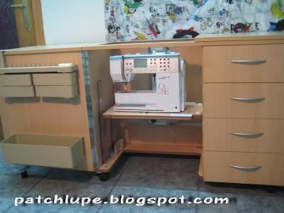 El patchwork es mi mundo mueble maquina de coser for Muebles de costura