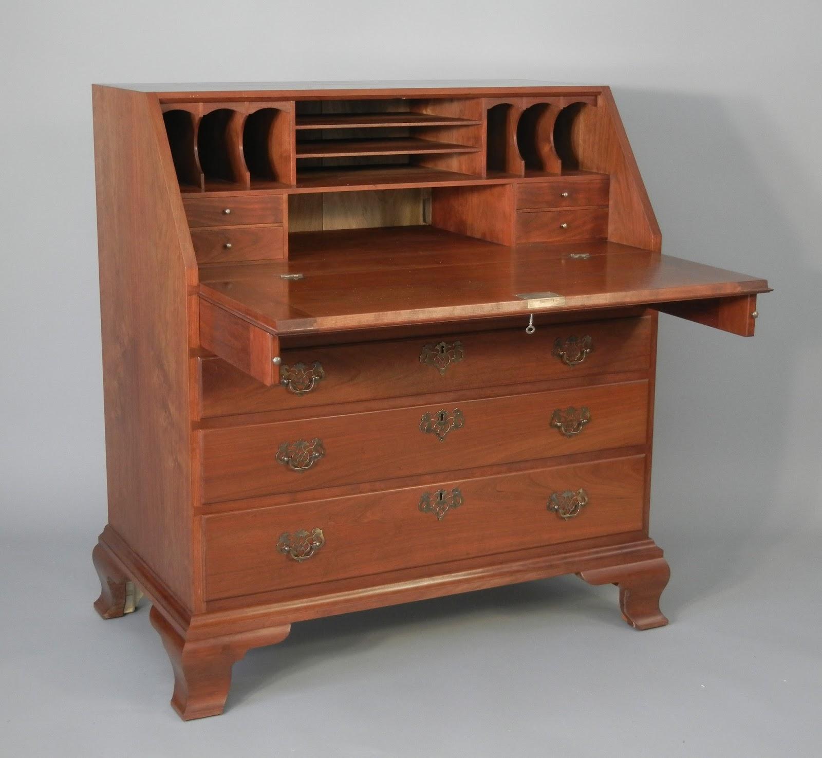 Doucette And Wolfe Fine Furniture Makers Slant Front Desk