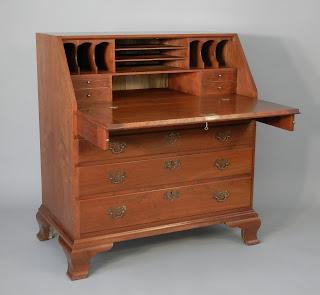 Reproduction Chippendale Slant Front Desk