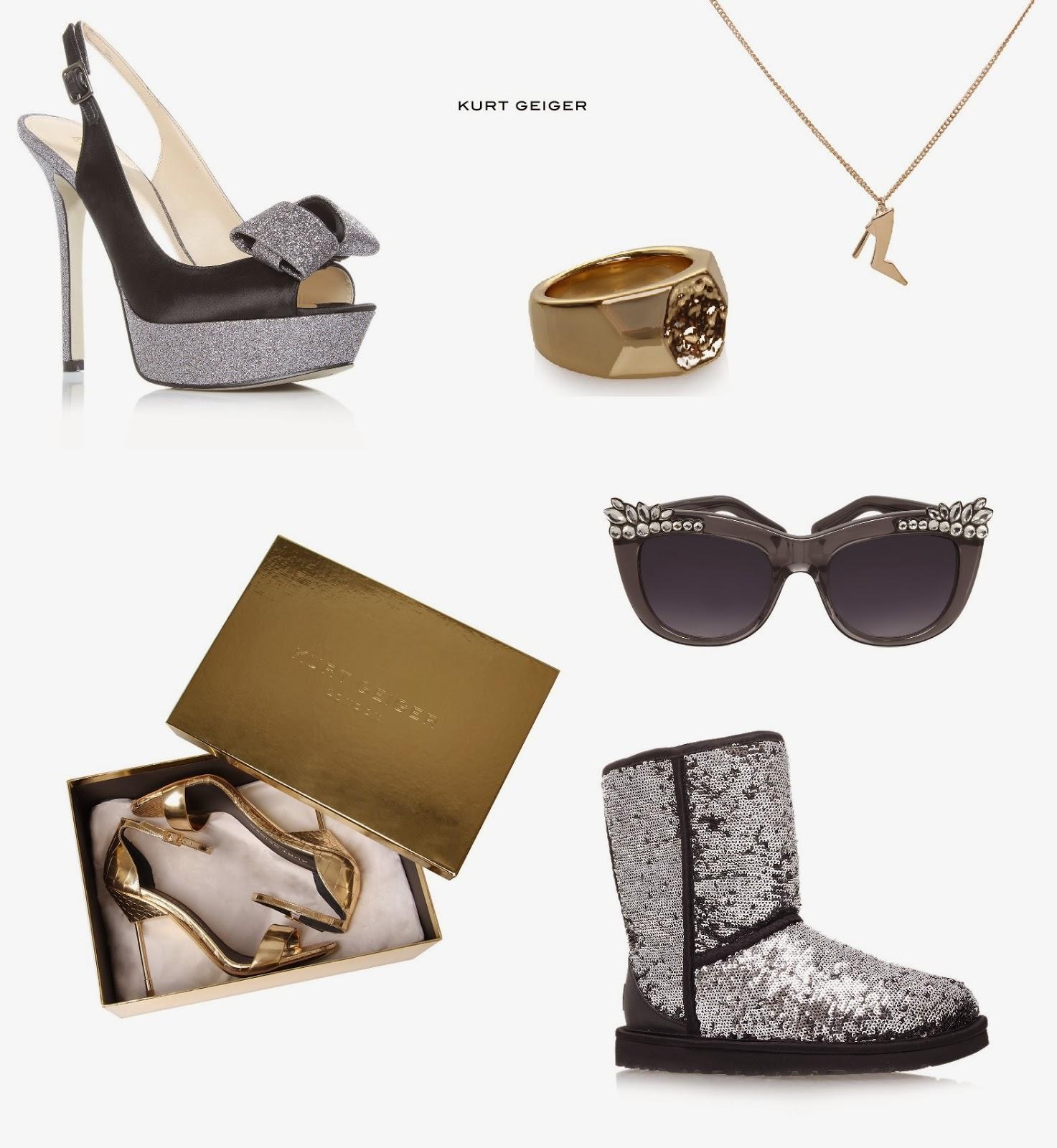 Kurt Geiger Sequin Dolly Court Shoes