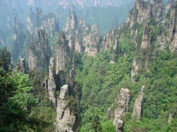 صورة رائعة لجبال تيانزي الصينية Tianzi Mountains