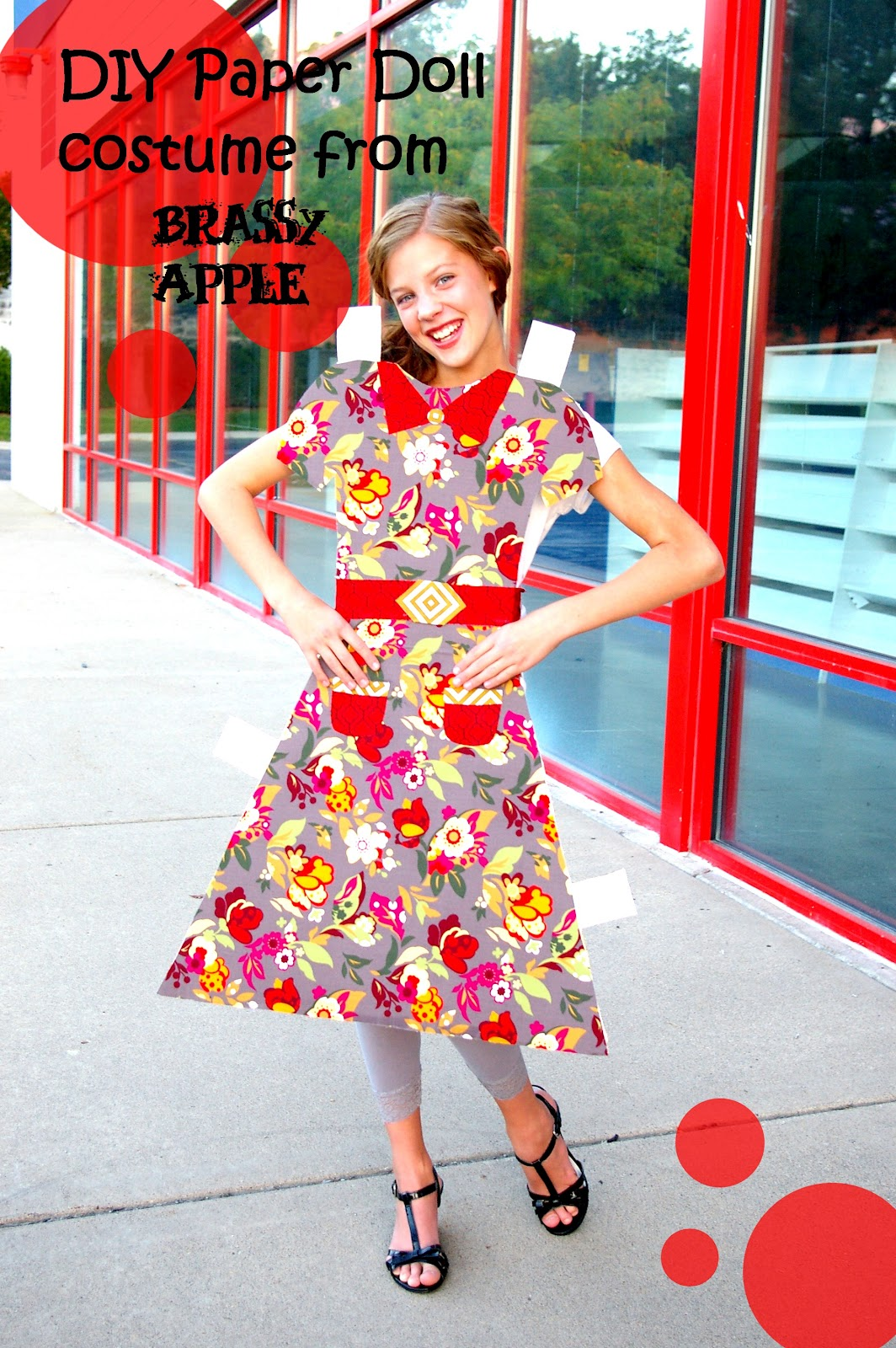 diy girls halloween costume paper doll - Apple Halloween Costumes