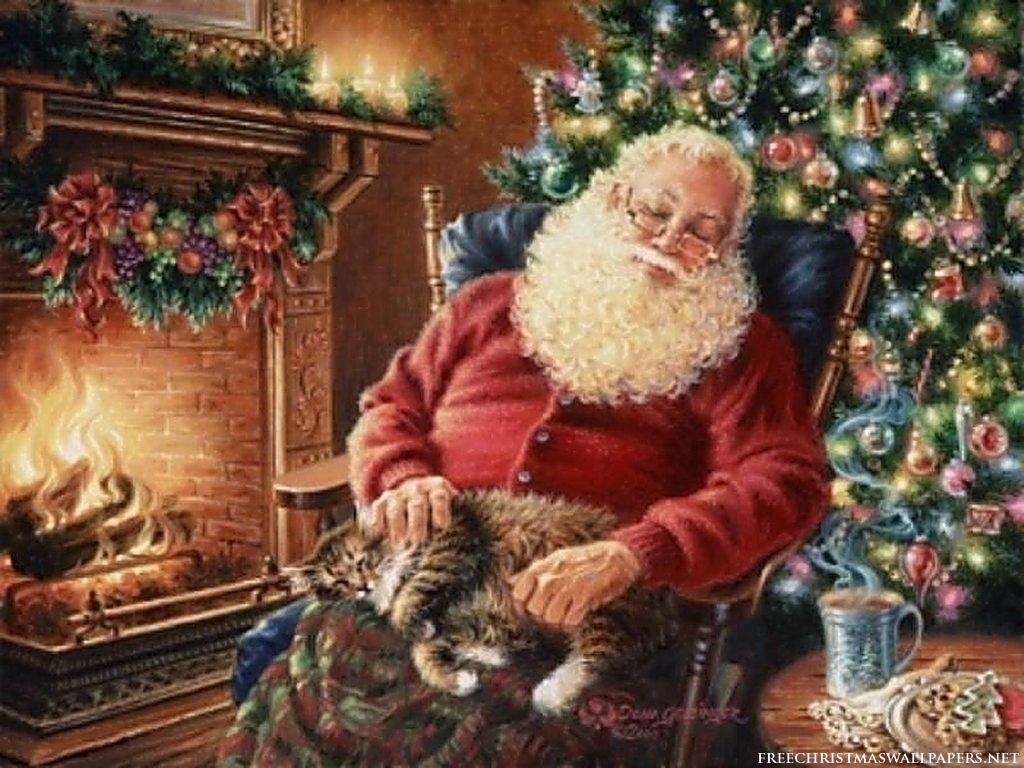 Santa Claus durmiendo