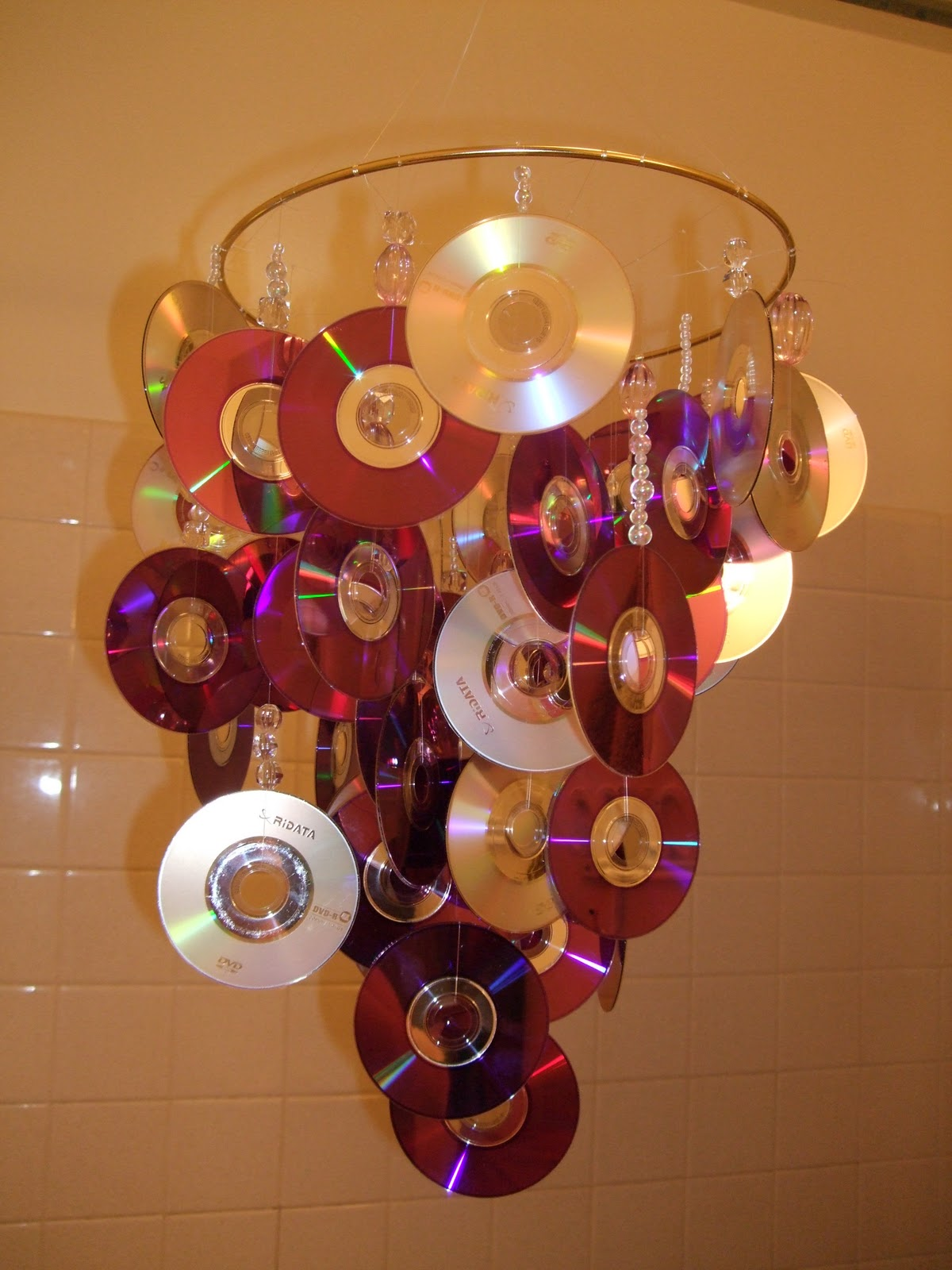 why when you can DIY homemade CD chandelier