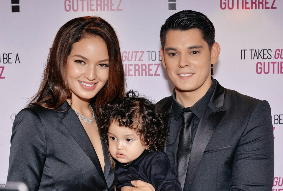 Sarah Alzol Lahbati and Richard Gutierrez with adorable Baby zion