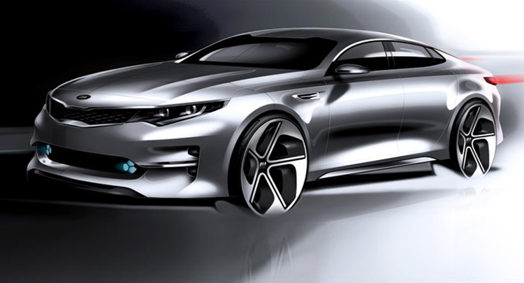 All new 2016 kia optima looks awesomein official teaser sketches sciox Choice Image