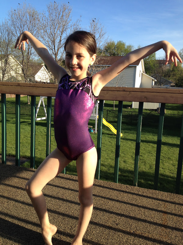 Not surprising at all - Lillian chose the bright pink Electra leotard