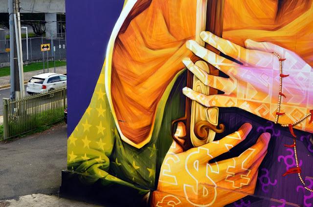 Street Art By Chilean Artist INTI For Los Muros Hablan '13 In San Juan, Puerto Rico. 6