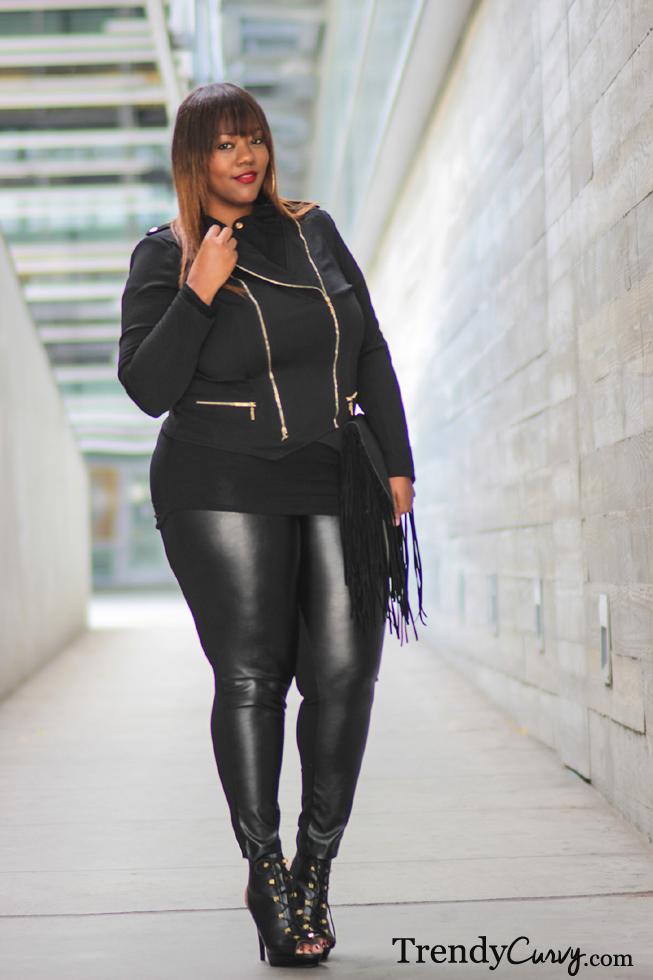 Plus Size Leather Pants